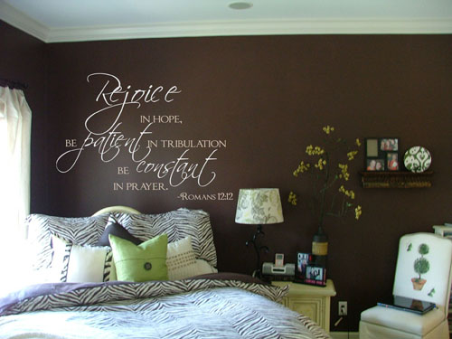 Rejoice in Hope Scripture Wall Decals - Trading Phrases